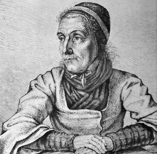 Портрет Доротеи Виманн работы Людвига Эмиля Гримма