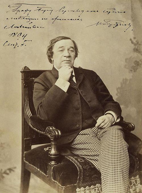 Портрет актёра Ивана Федоровича Горбунова. Фотография Е. Л. Мрозовской, ок. 1894 г.