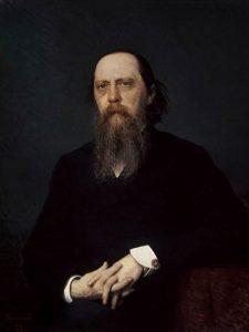 Портрет писателя М.Е. Салтыкова-Щедрина  - И.Н.Крамской (1879 г.)